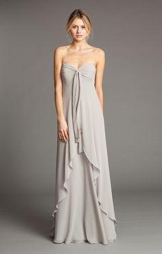 Suri in Dove Grey Luxe Chiffon - in blush or a neutral/champagne tone?