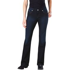 Women's Dickies Slim Fit Bootcut Jeans, Size: 2 - regular, Red Overfl