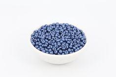 6/0 Matt Pearl Czech Seed Bead Steel Blue