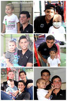 Los #Rayados Sub 20 visitaron hoy la Alianza Anticáncer Infantil. #ESR