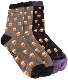 2 pair pack of Men's fun socks with a Beer Glass pattern, 1 pair of black and 1 pair of grey. Excellent quality, super soft and stretchy bamboo / cotton blend fabric ( 54% Bamboo, 22% Cotton, 16% Polyester, 6% Nylon, 2% Elastane ) One size ( Men's UK Shoe size 8 - 12 ) FREE UK Delivery. Cool Socks For Men, Fun Socks, Beer Socks, Bamboo Socks, Free Uk, Black And Grey, Packing, Pairs, Delivery
