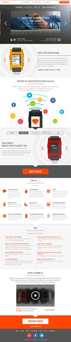 Do you know who designed the new Pebble website ? Well, here's who ! :)