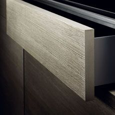 #FunctionalityInTheKitchen Assisted-opening drawers ensure that everything is in fast, easy reach. At the press of a finger, they automatically glide a short distance towards the user.