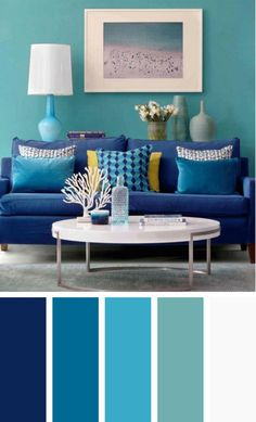 The living room color schemes to give the impression of more colorful living. Find pretty living room color scheme ideas that speak your personality. Modern Living Room Colors, Living Room Color Schemes, Beautiful Living Rooms, Cozy Living Rooms, New Living Room, Living Room Designs, Small Living, House Beautiful, Colour Schemes