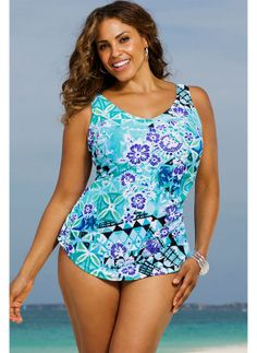 30a7469732f09 One-Piece Tummy-Control Printed Swimsuits - Assorted Styles & Extended  Sizes at Savings off Retail!