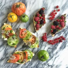 Summer in all its glory makes an awesome lunch.  And for my sweet tooth, Nutella with berries &…