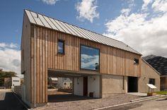 Kendram - Turf House - Rural Design Architects - Isle of Skye and the Highlands and Islands of Scotland Minimalist Kitchen, Minimalist Interior, Minimalist Bedroom, Minimalist Decor, Minimalist Scandinavian, Minimalist Living, Larch Cladding, House Cladding, Wall Cladding