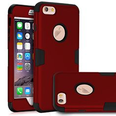 iPhone 6 Plus Case iPhone 6s Plus CaseTOPSKY Three Layer Heavy Duty High Impact Resistant Hybrid Protective Case For iPhone 6 Plus and iPhone 6s Pluswith Screen Protector and Stylus RedBlack ** More info could be found at the image url.