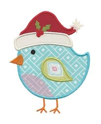 Christmas Bird Applique - 3 Sizes! | Christmas | Machine Embroidery Designs | SWAKembroidery.com Applique for Kids
