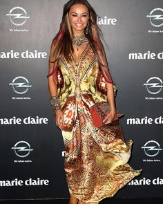 Camilla Franks arrives at the 2013 Prix de Marie Claire Awards in Sydney.