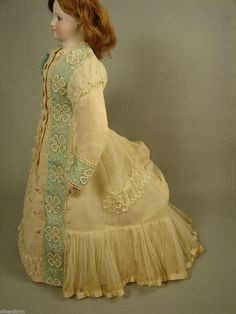 Antique Cotton Netting Dress for 15in French Fashion Lady Doll Carol Straus 291 | eBay