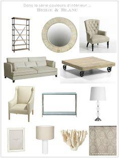 Planche shopping salon beige et blanc