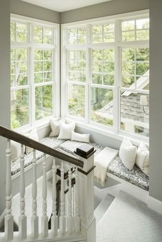 Turn a dark corner of your home into a brightly lit relaxing spot with full glass - windows installed all the way to the corner and almost to the ceiling. Double-hung windows with grids are topped with transom windows for even more light. We are a Minneapolis MN #ReplacementWindow company, and we can deliver this look. http://www.replacementwindowsmpls.com