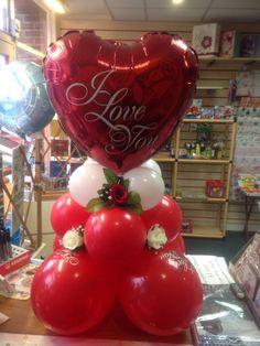 Valentine's Valentines Balloons, Valentines Day Decorations, Valentines Day Party, Balloon Arrangements, Balloon Centerpieces, Balloon Decorations, Balloon Display, Balloon Gift, Balloon Template