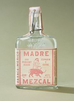 Madre Mezcal Branding & Packaging by LAND # Food and Drink logo bottle design Branding And Packaging, Bottle Packaging, Print Packaging, Vintage Packaging, Product Packaging Design, Food Branding, Coffee Packaging, Product Label, Food Packaging