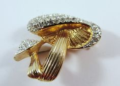 Vintage 1950s Signed Jomaz Gold Toned Figural by GildedTrifles