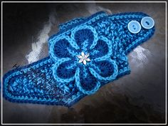 Crochet Headwrap  Bright Blues by aowrya on Etsy