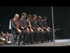 DallasBrass - Hands - great rhythm activity/routine - example of DYNAMICS / unison / canon / accented beats. Great diagonal lines and an element of of HUMOUR at beginning.