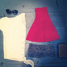 Leopard Bandeau and Skirt