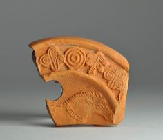 North African red slip oil lamp fragment with animal 8