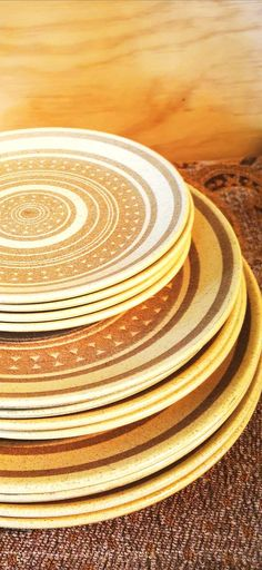 Dinner Sets, Recycling, Crown, Plates, Vintage, Licence Plates, Corona, Dishes, Griddles