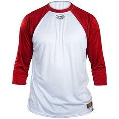 Louisville Slugger Youth Slugger Loose-Fit 3/4-Sleeve Shirt, White/Red, Boy's, Size: Medium