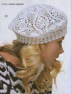 Gorgeous lace beret-charted БЕРЕТ. Обсуждение на LiveInternet - Российский Сервис Онлайн-Дневников