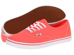 Vans Authentic™ Lo Pro (Neon) Coral - Zappos $45.00 with Free Shipping! // Waaaant.