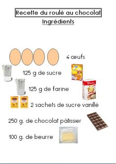 roule recette 1 Pastry Cook, Little Chef, Cordon Bleu, Easy Cooking, Yummy Cakes, Kids Meals, Sweet Recipes, Delicious Desserts, Food And Drink