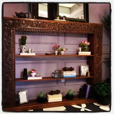 Wood in the workspace is grounding. The mirrors face the windows. Fashion Network, Design Show, Enchanted, Floating Shelves, Mirrors, Windows, Wood, Face, Home Decor