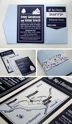 farmhouse wedding invitation set
