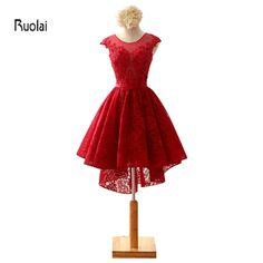 2016 New Arrival Real Sample Burgundy Cap Sleeves High Low Mini Short Prom Dresses Custom Made Open Back