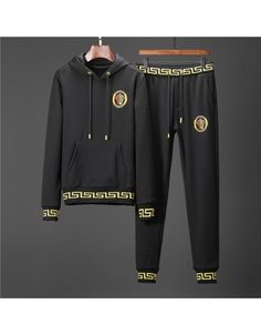 Versace Fashion Tracksuits For Men Versace Fashion, Versace Men, Versace Logo, Indian Men Fashion, Mens Fashion Wear, Gucci Jacket Mens, Affliction Clothing, Swag Outfits Men, Casual Outfits