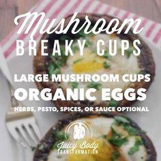 Mushroom Breaky Cups!