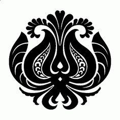 Hungarian Embroidery, Folk Embroidery, Learn Embroidery, Embroidery Patterns, Machine Embroidery, Folk Art Flowers, Flower Art, Stencils, Scandinavian Folk Art