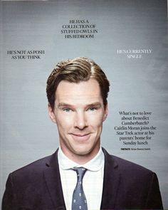 Sherlocked. — The Times- Benedict Cumberbatch Interview by...