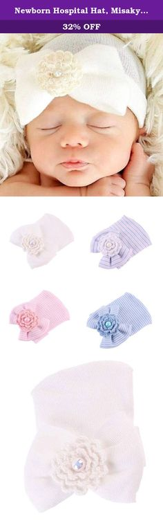 Newborn Hospital Hat, Misaky Newborn Baby Hats With Pretty Bow Flower Pearl (Free, White). Feature: 100% brand new and high quality. Pretty and cute style. Make your baby become more fashionable,attractive,beautiful,your kids will like it very much. Special accessory for your child perfect for photo shoots or for any special occasions. Package Content: 1X Newborn Cute Hat Bowknot Girl Hat.