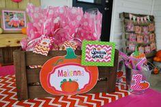 Amanda M's Birthday / Pumpkins / Fall / Birthday - Photo Gallery at Catch My Party Pumpkin Patch Birthday, Pumpkin Birthday Parties, Pumpkin First Birthday, Fall Birthday, First Birthday Parties, Birthday Party Themes, Birthday Ideas, 1st Birthday Photos, Baby Girl First Birthday