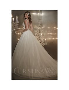 christina-wu-15561-tulle-wedding-dress-sheer-straps-v-neckline-v-back-sweetheart-bodice-ballgown