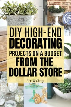 Make Your Own Chic Decor From the Dollar Store and No One Would Know! I decided to share some of the best DIY high-end home decorating on a budget from the Dollar Store that I could find to help spark inspiration. DIY home decor on a budget dollar store Dollar Store Hacks, Dollar Stores, Dollar Dollar, Dollar Tree Decor, Dollar Tree Crafts, Diy Home Decor On A Budget, Decorating On A Budget, Dollar Store Decorating, Decorating Hacks