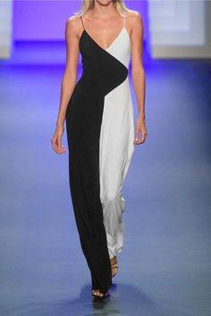 Cushnie et Ochs - Two-tone Crepe Jumpsuit - Black - US12