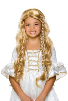 Rubies Fairy Tale Princess Childs Costume Wig Blonde