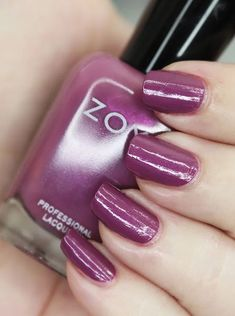 Zoya Nail Polish in Teresa from the Luscious Collection  Swatches Nice Nails, Fun Nails, Pin Interest, Let It Shine, Zoya Nail Polish, Purple Makeup, Beauty Review, Bubblegum Pink, Cool Tones