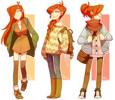some autumn-inspired wendy outfits