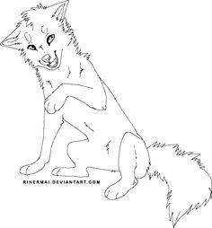 coloring pages anime wolfs running wolf lineart free by