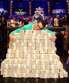 (fasch) July Antonio Esfandiari plays in the One million dollar buy-in Big One for One Drop Texas Hold'em event and wins over 18 Million Dollars! Show Me The Money, My Money, How To Make Money, Cash Money, Money Bill, World Series Of Poker, Weekender, Money Pictures, One Million Dollars