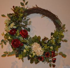 Fall Wreath Autumn Wreath Harvest Wreath Year by TheBloomingWreath