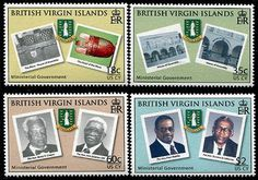 Virgin Islands Ministerial Government Stamps Virgin Islands, Stamp Collecting, Postage Stamps, Baseball Cards, Collection, Us Virgin Islands, Stamps