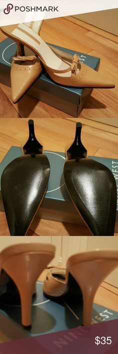 "High-heeled sandals 3-1/2 to 4"" high-heeled sexy slip on mules, never worn in box! Nine West Shoes Mules & Clogs"
