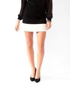 Colorblocked Miniskirt | FOREVER21 - 2025101097